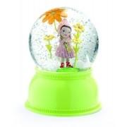 Djeco - Luminária Menina Flor - Bola de Neve