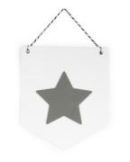Estandarte em Acrílico - Estrela Cinza