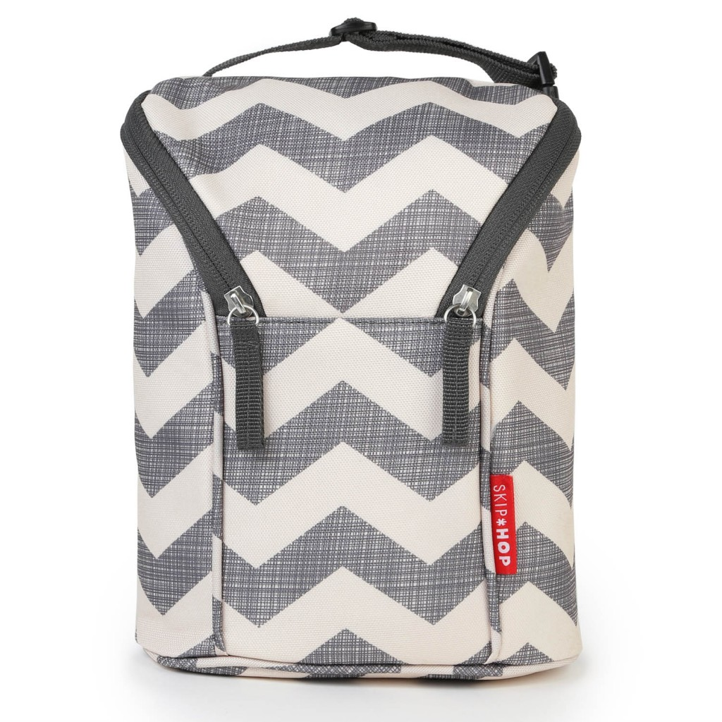 CHEVRON - BOLSA TÉRMICA PARA MAMADEIRA SKIP HOP - DOUBLE BOTTLE BAG