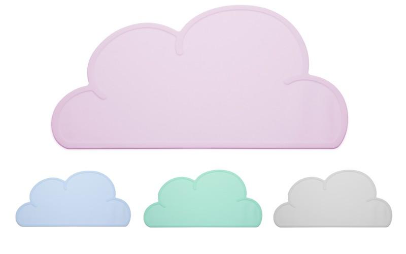 Jogo Americano em Silicone - Nuvem Rosa