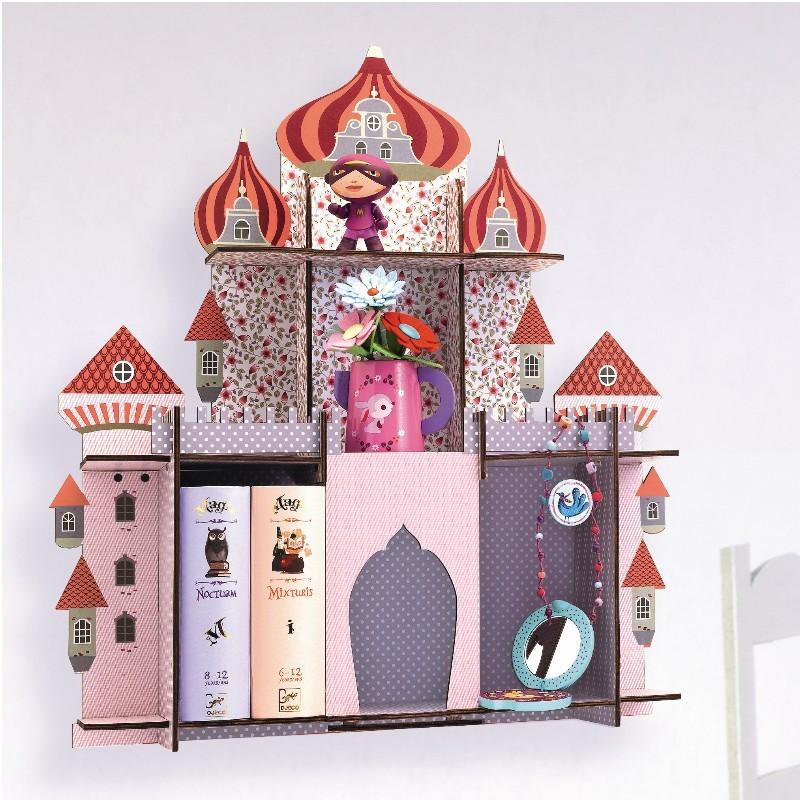prateleira infantil em mdf castelo da princesa brinquedos e artigos infantis com qualidade. Black Bedroom Furniture Sets. Home Design Ideas
