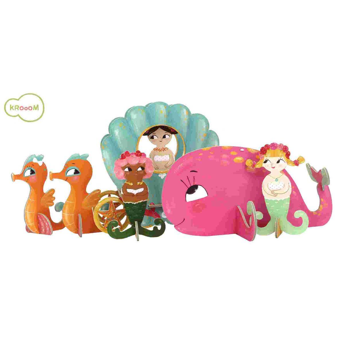 Quebra-Cabeças 3D na Maletinha Krooom - Sereias