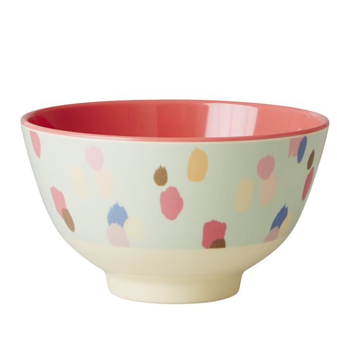 Bowl Rice em Melamina  - Dots Acqua