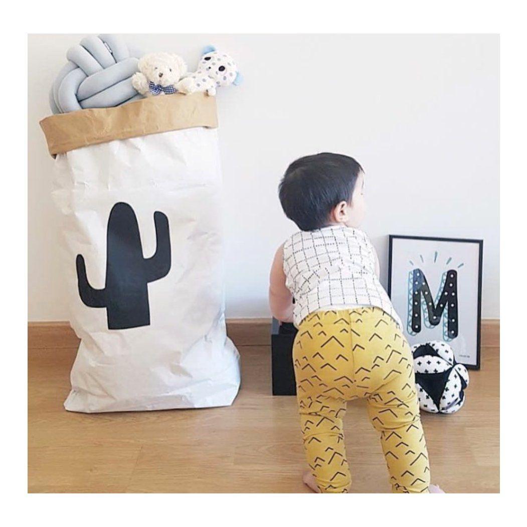Saco Organizador Infantil para Brinquedos - Cactus