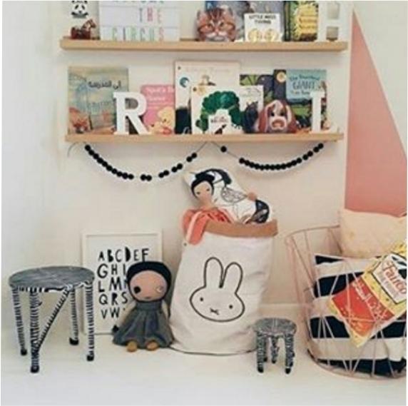 Saco Organizador Infantil para Brinquedos - Coelho