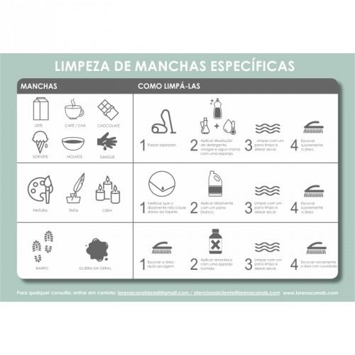 Tapete Lorena Canals Bege com Bolas Brancas - Antialérgico