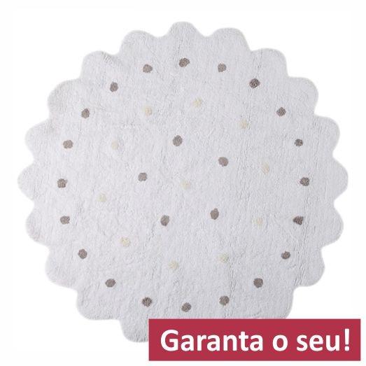 Tapete Lorena Canals Branco Redondo  - Galletita