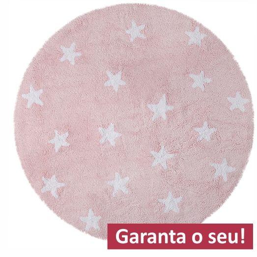 Tapete Redondo Lorena Canals - Estrelas Brancas