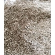 Tapete Redondo Shaggy Sable Bege 200 cm (B)