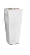 Vaso Vietnamita Quadrado Branco (A)