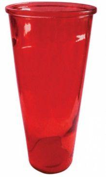 Vaso de Vidro Vermelho