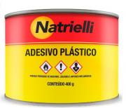 MASSA ADESIVA PLÁSTICA COR CINZA 400G - Natrielli