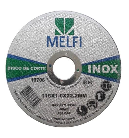 DISCO DE CORTE PARA INOX - MELFI