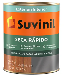 ESMALTE BASE AGUA SECA RÁPIDO BRANCO BRILHANTE 900L - SUVINIL