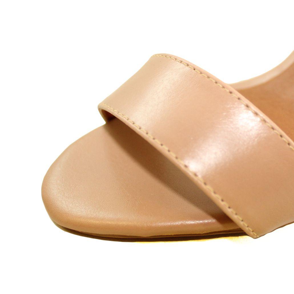 Sandália Salto Alto Fino Luiza Sobreira Couro Nude Mod. 2214