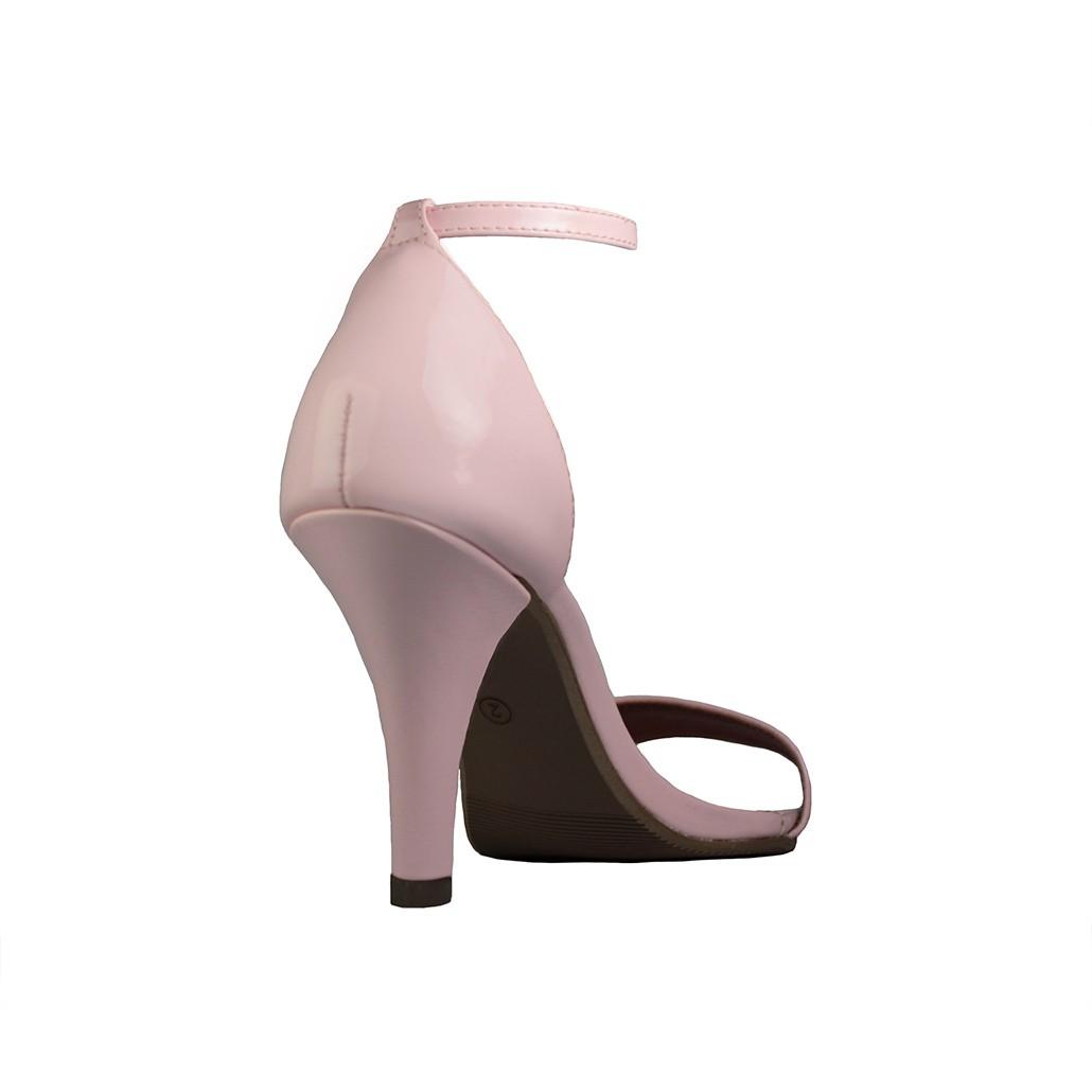 Sandália Salto Alto Fino Luiza Sobreira Verniz Nude Mod. 2057