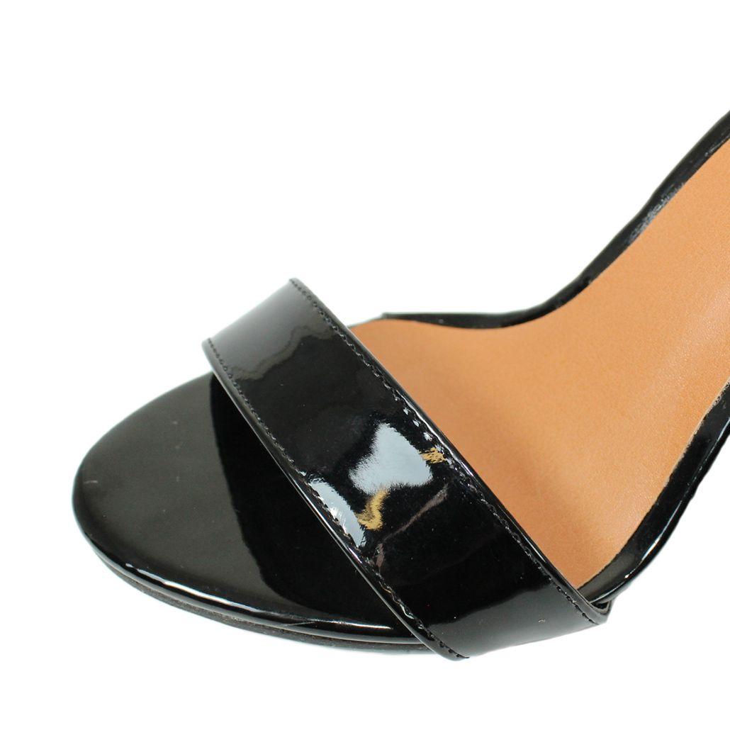 Sandália Salto Alto Fino Luiza Sobreira Verniz Preto  Mod. 2212