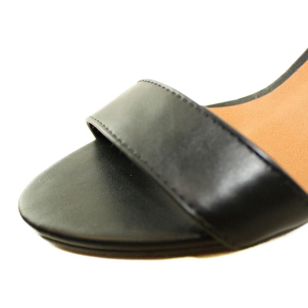 Sandália Salto Baixo Fino Luiza Sobreira Napa Preto Mod. 2012