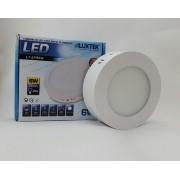 Luminária Plafon LED 6w Sobrepor Branco Frio Redonda / Quadrada - LUXTEK