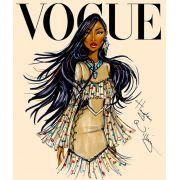 Quadro Princesas Vogue 40 x 60 cm