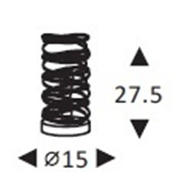 Abajur Aramado de mesa Espiral Ref: Lt-357-Aj