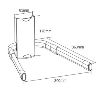 Combo - Suporte Articulável para TV  LED/LCD/Plasma 32