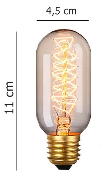 Lâmpada Retrô de filamento de carbono E27