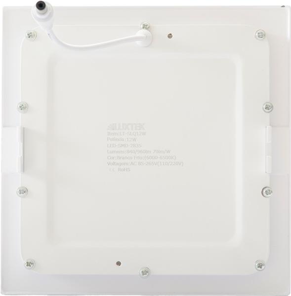 Luminária Plafon LED 12w Embutir Redonda - LUXTEK
