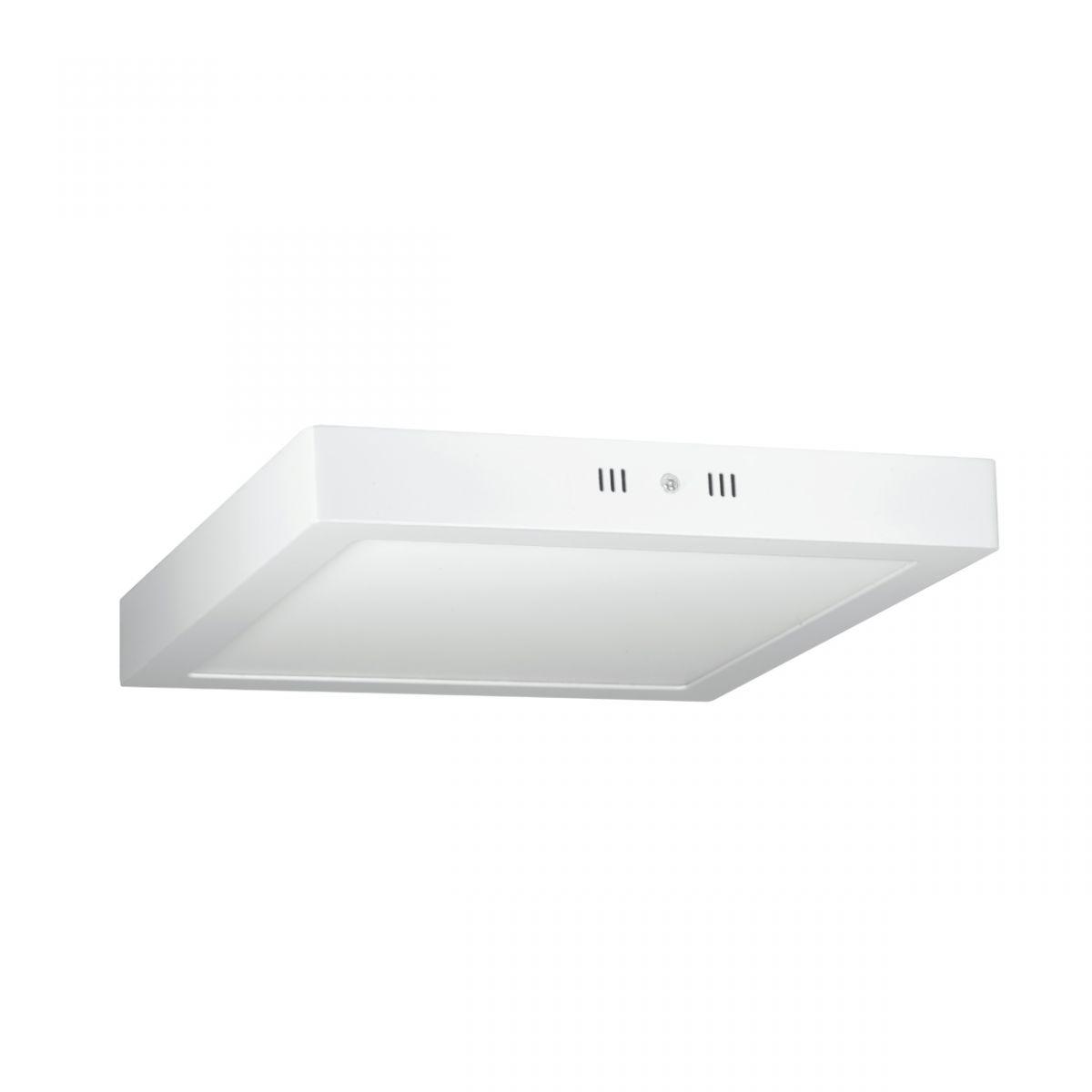 Luminária Plafon LED 18w Sobrepor Branco Frio Redonda / Quadrada - LUXTEK