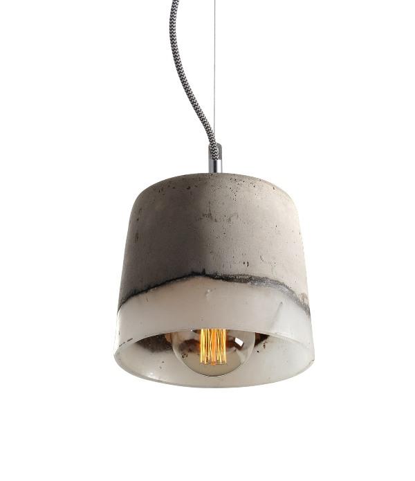 Luminária Pendente Cimento queimado e Resina Ref: Lt-156CC-A