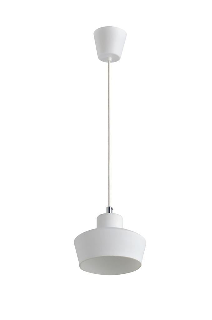 Luminária Pendente Vidro Branco Fosco  Ref: Lt-222-B