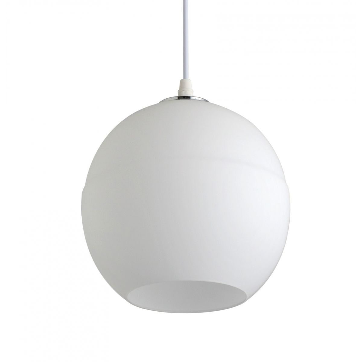 Luminária Pendente Vidro Branco Fosco Ref: Lt-222-C