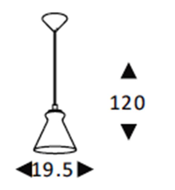 Luminária Pendente Vidro Fumê  Soprano Ref: Lt-292V-E
