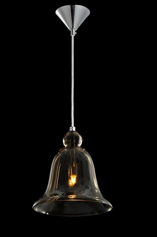 Luminária Pendente Vidro Fumê Soprano Ref: Lt-292V-F
