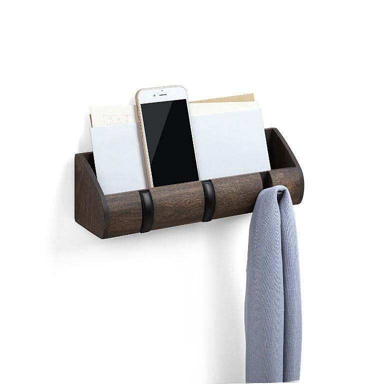 Porta-chaves e organizador Cubby mini- Expresso/Preto - Umbra