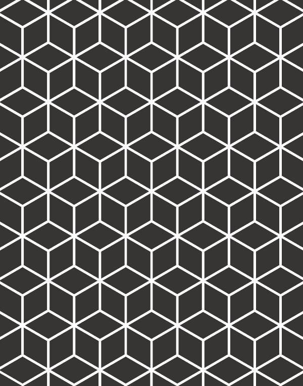 Quadro Geométrico Preto & Branco