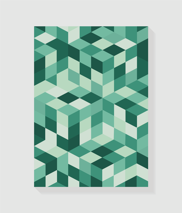 Quadro Geométrico Verde