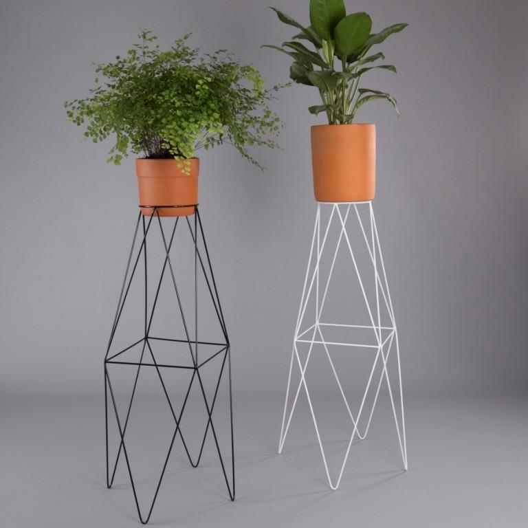 Suporte de vaso botânico para plantas losango GG