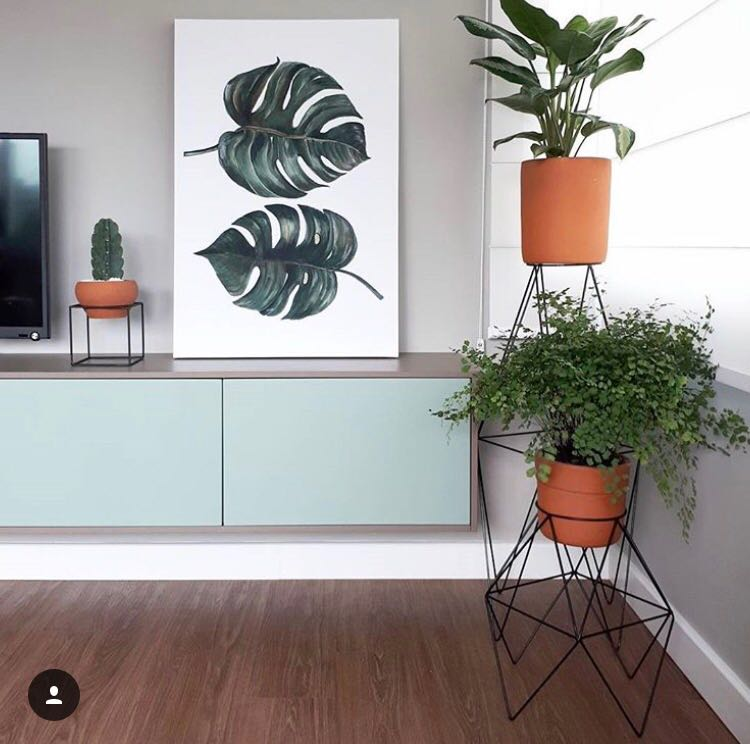 Suporte de vaso botânico para plantas losango M