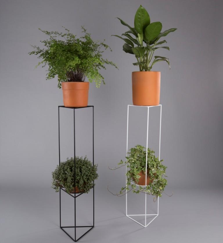Suporte de vaso botânico para plantas triângulo G