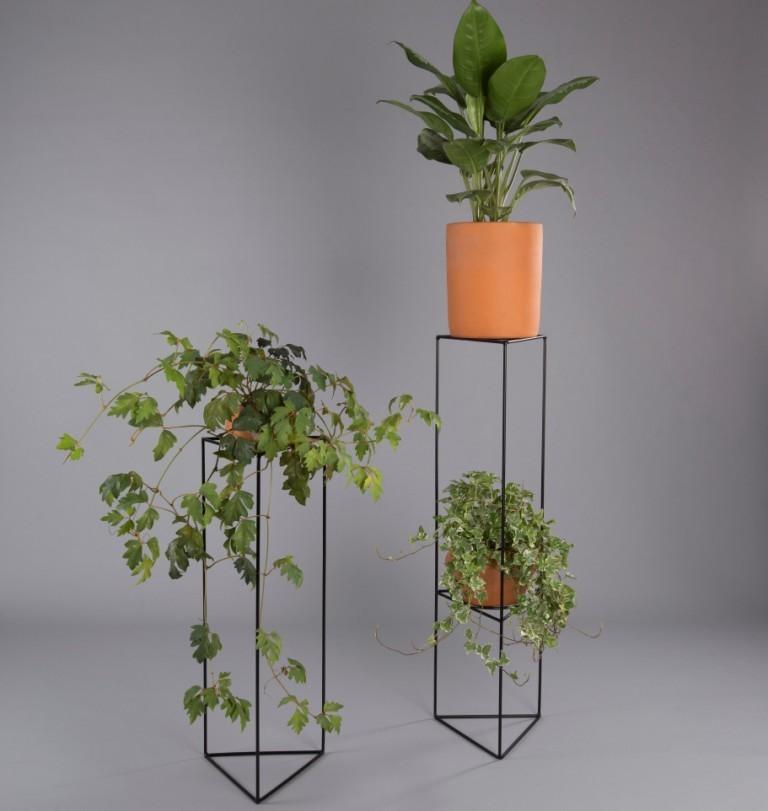 Suporte de vaso botânico para plantas triângulo M