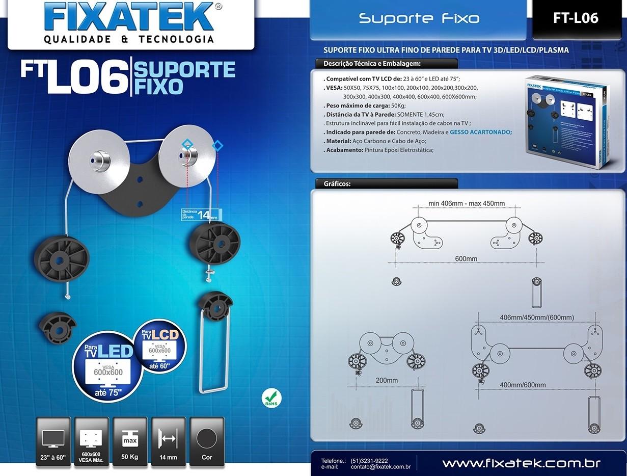 Suporte Fixo de Parede p/ TV LED/LCD de 23-70