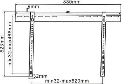 Suporte fixo para TV LCD/LED: 37-65