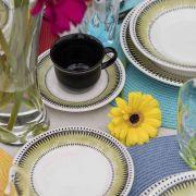 Aparelho Jogo De Jantar 30 Peças Actual Tie Dye Oxford