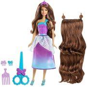 Barbie Reino Dos Penteados Magicos Morena Corte Encantado