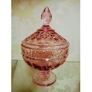 Bomboniere Potiche de Cristal com Pé Angel Roxo 15x24 cm  Wolff
