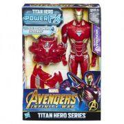 Boneco Avengers Figura 12 Power Pack FX Homem de Ferro - E0606 - Hasbro