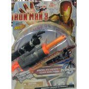 Boneco Iron Man lançador de dardo