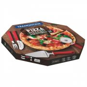 Conjunto para Pizza Aço Inox 14 Peças Preto PIZZA