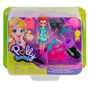 Conjunto Polly Pocket Bicicleta Aventura Com Bichinho Mattel